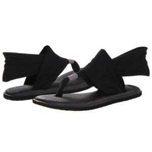 Sanuk Black Yoga Sling Sandals 9